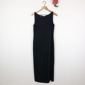 [DONNA MORGAN] Beaded Sleeveless Maxi Dress